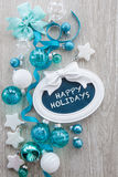 Christmas baubles and decorations Royalty Free Stock Photography