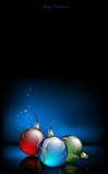 Christmas baubles design Royalty Free Stock Photos