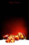 Christmas baubles design Stock Photos