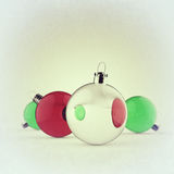 Christmas baubles elements Stock Image