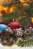 Christmas Baubles - Festive Decorations Royalty Free Stock Photo