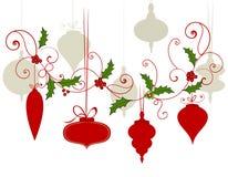 Christmas Baubles Flourish Stock Photos