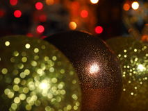 Christmas Baubles with glitter Royalty Free Stock Photo