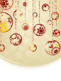 Christmas baubles on gold background. EPS 8 Royalty Free Stock Photography