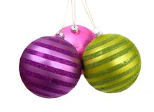 Christmas baubles hanging Stock Photo