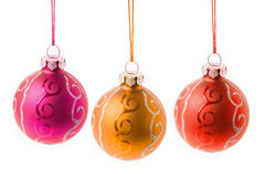 Christmas baubles hanging Royalty Free Stock Image