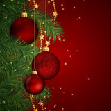 Christmas baubles. Illustration of a Decorative Christmas Background Stock Images