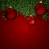 Christmas baubles. Illustration of a Decorative Christmas Background Stock Photos