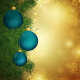 Christmas baubles. Illustration of a Decorative Christmas Background Royalty Free Stock Image