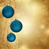 Christmas baubles. Illustration of a Decorative Christmas Background Royalty Free Stock Photography