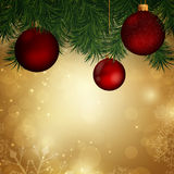 Christmas baubles. Illustration of a Decorative Christmas Background Royalty Free Stock Photo