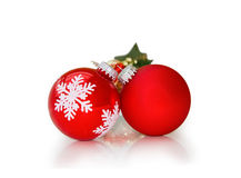 Christmas baubles isolated with clipping path Royalty Free Stock Image