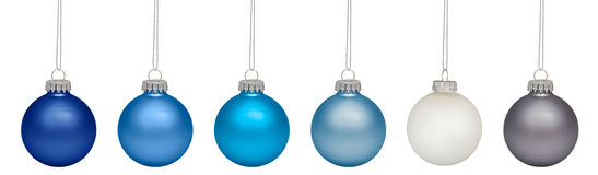 Christmas baubles isolated on white Stock Image