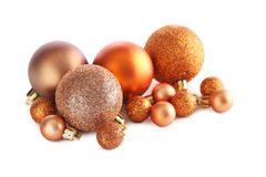 Christmas baubles. Isolated on a white background Royalty Free Stock Image