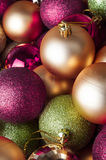 Christmas Baubles - Mixed Collection Royalty Free Stock Image