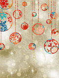 Christmas Baubles On Elegant Background. EPS 8 Royalty Free Stock Photography