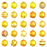 Christmas baubles orange pack on white background Stock Photography