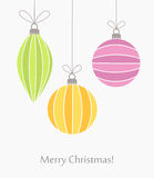 Christmas baubles ornaments Stock Photo