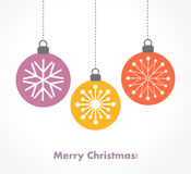 Christmas baubles ornaments. Vector illustration royalty free illustration