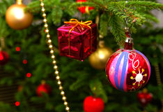 Christmas. Baubles and other ornaments Royalty Free Stock Images