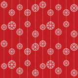 Christmas baubles pattern Royalty Free Stock Photo