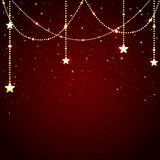 Christmas baubles on red background Royalty Free Stock Image