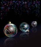 Christmas baubles reflected Royalty Free Stock Photos