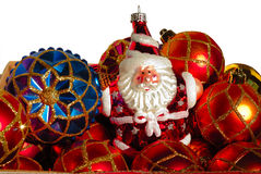 Christmas Baubles and Santa Royalty Free Stock Photography