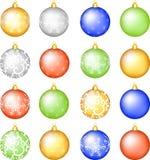 Christmas baubles set. Stock Photos