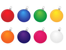 Christmas Baubles Set Royalty Free Stock Image