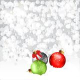 Christmas Baubles In Snow Royalty Free Stock Photos