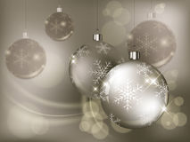 Christmas baubles with snowflake Stock Image