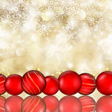 Christmas baubles and  snowflake background Royalty Free Stock Photos
