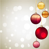 Christmas baubles and snowflakes Stock Image
