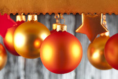 Christmas baubles and stars Royalty Free Stock Image