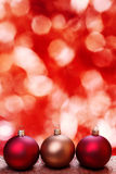 Christmas baubles, still life. Christmas baubles with bokeh background. Still life Stock Photography
