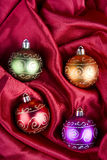 Christmas Baubles in ther Box Royalty Free Stock Photo