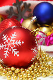 Christmas baubles, toys, garland Royalty Free Stock Photography