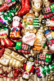 Christmas baubles, toys and garlands. colorful ornaments Stock Images