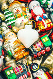 Christmas baubles, toys and ornaments Royalty Free Stock Photo