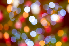Christmas baubles on tree - Bokeh Stock Photos