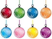 Christmas baubles, vector Royalty Free Stock Images