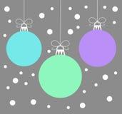 Christmas baubles vector Royalty Free Stock Photos
