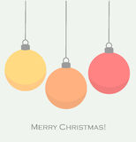 Christmas baubles vector. Christmas baubles card. Vector illustration Stock Image