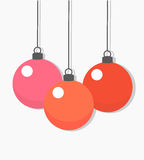Christmas baubles vector Royalty Free Stock Image