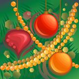 Christmas baubles. Royalty Free Stock Images