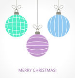 Christmas baubles vector Stock Photography