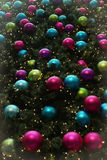Christmas Baubles vertical Background Stock Photography