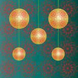 Christmas baubles wallpaper Stock Image
