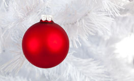 Christmas Baubles on white background Royalty Free Stock Photos